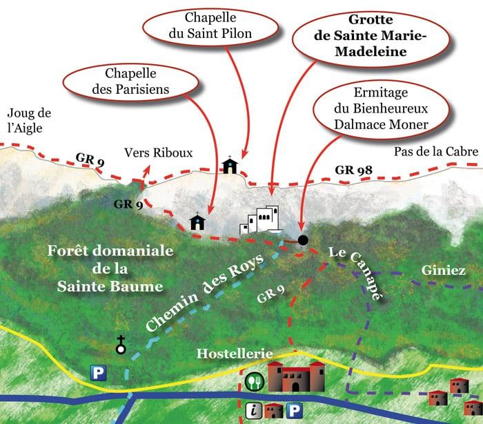 carte-randonnee-sainte-baume - Sainte-Baume