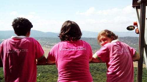 Photo trois filles volontaires
